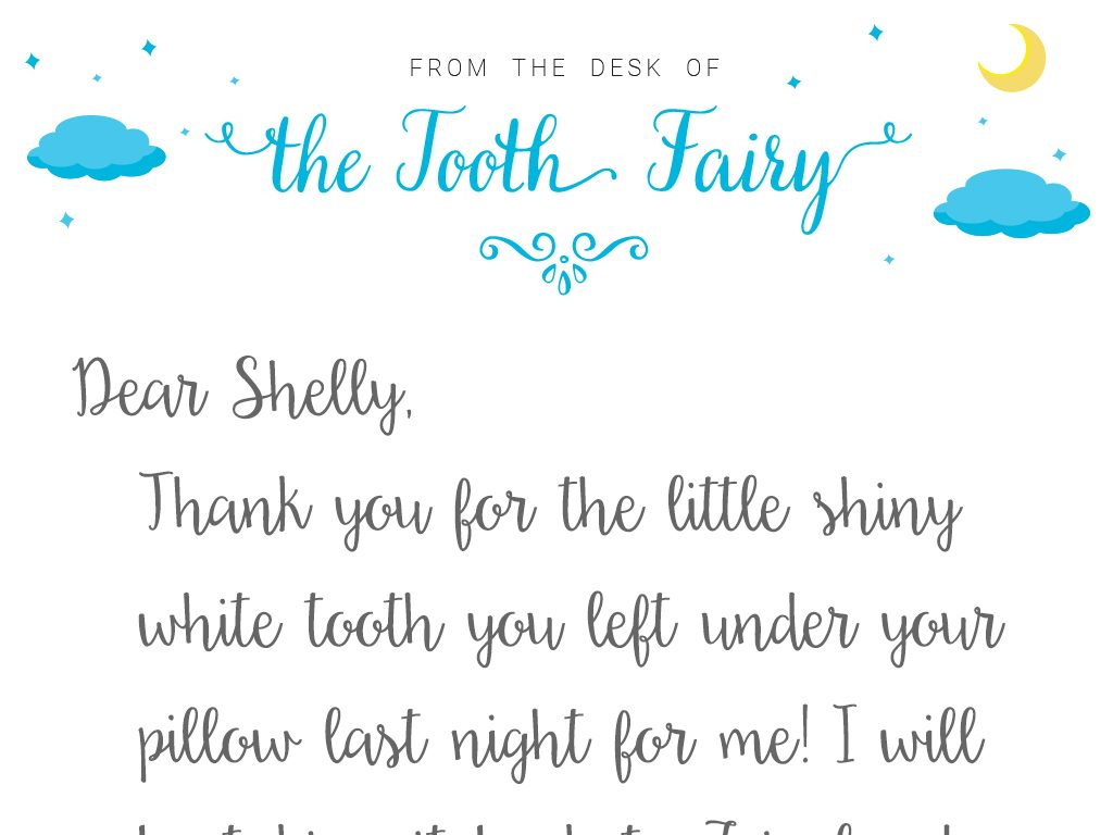 letter from the tooth fairy template tooth fairy letter template baton rouge parents magazine